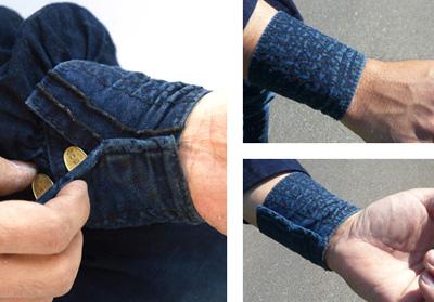 きねや手甲(庭師の衣装)の着用写真